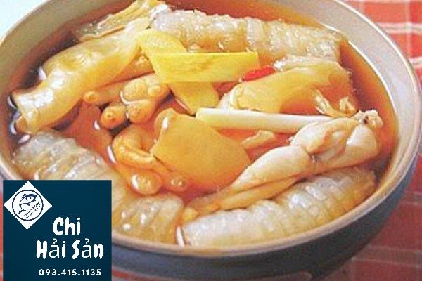 canh bóng cá nấu thtj ếch