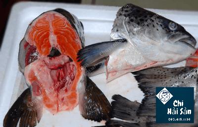 Đầu cá nhập khẩu Nauy- Đầu cá hồi nấu ngót