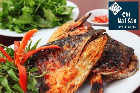 Đầu cá hồi-Món nướng muối ớt