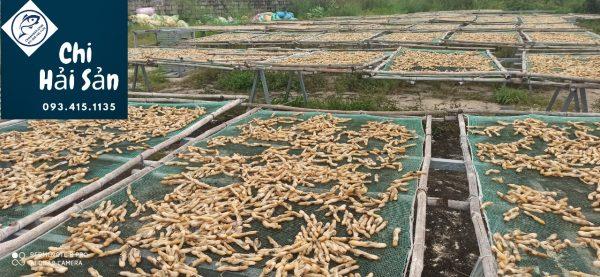 Sơ chế khô sò móng tay