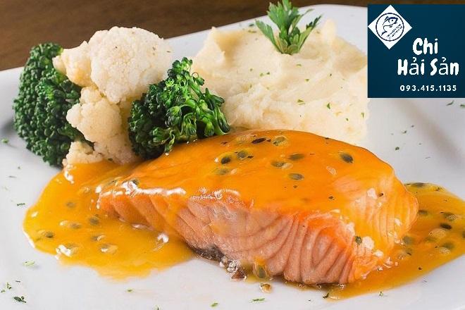 Loin cá ngừ sốt cam