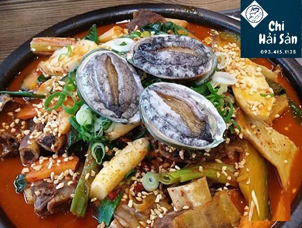 Sườn non hầm bào ngư kiểu Hàn Quốc