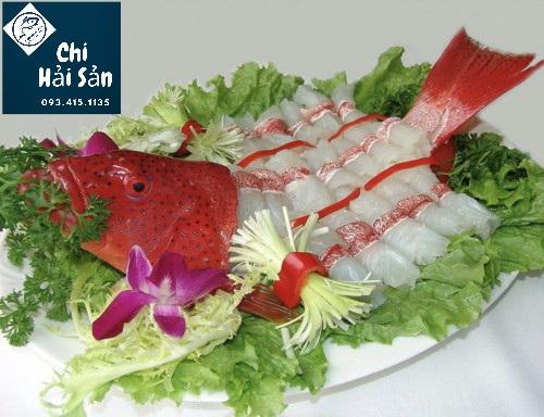 Sashimi thịt phi lê cá